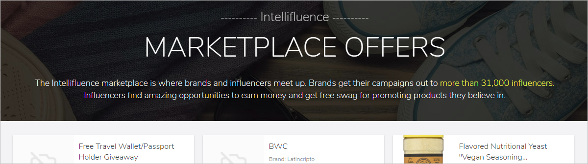 Syndicated Marketplace and Blogger Influencer Filter